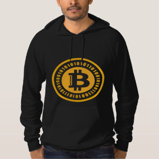 Alfanumeriska Bitcoin numrerar Sweatshirt Med Luva