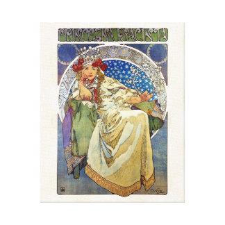 Alfons Mucha Princezna 1911 Hyacinta Canvastryck