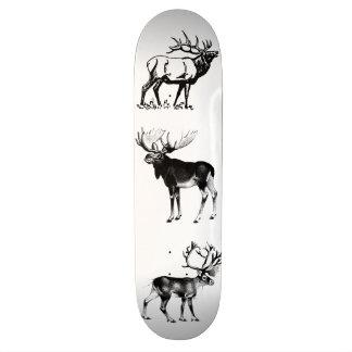Älg-Älg-Caribouen stiger ombord Mini Skateboard Bräda 18,7 Cm