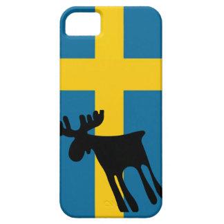 Älg / Moose med Svenska flaggan iPhone 5 Case-Mate Cases