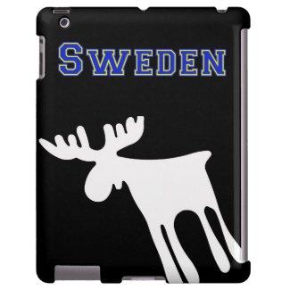 Älg / Moose, vit, Sweden iPad Fodral