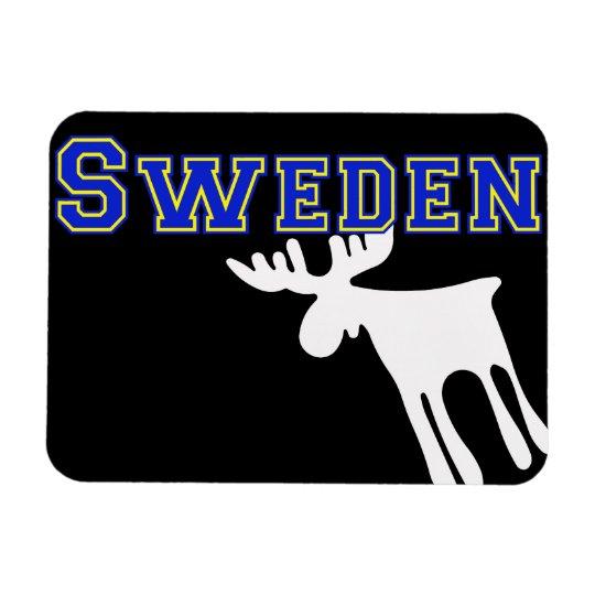 Älg / Moose, vit, Sweden Magnet