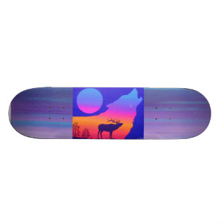 Älg solnedgång skate board deck