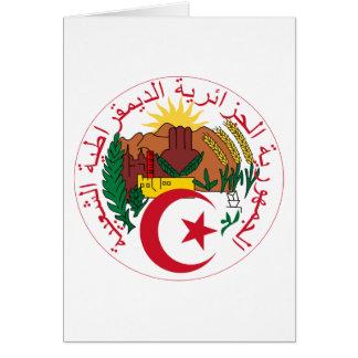 algeria emblem hälsningskort