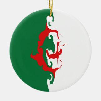 Algeria Gnarly Flag Christmas Ornament
