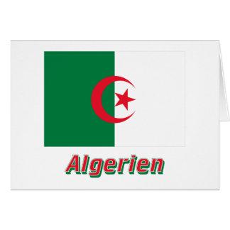 Algerien Flagge mit-deutschem Namen Hälsningskort