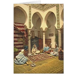 Algerier mattar tillverkare 1899 hälsningskort