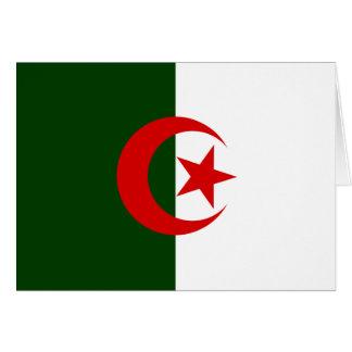 Algeriet flagga hälsningskort