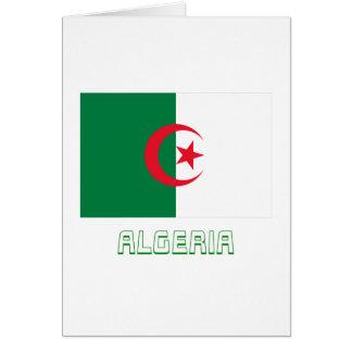 Algeriet flagga med namn hälsningskort