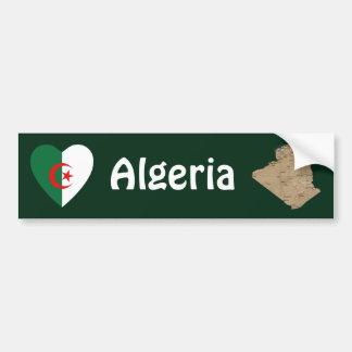 Algeriet flaggahjärta + Kartabildekal Bildekal