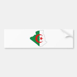 Algeriet flaggakarta DZ Bildekal
