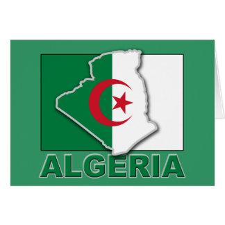 Algeriet flaggaland hälsningskort