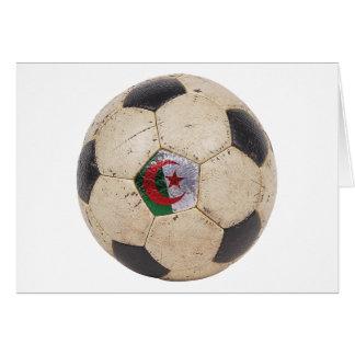 Algeriet fotboll hälsningskort