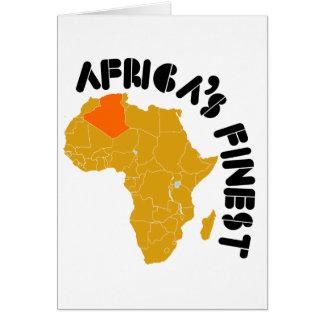 Algeriet mest fin afrika hälsningskort