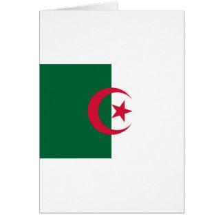 Algerisk flagga hälsningskort