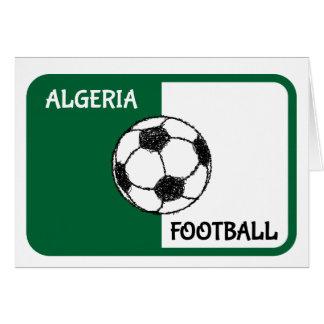 Algerisk fotboll för flagga | hälsningskort
