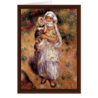 Algerisk kvinna med barnet av Pierre-Auguste Hälsningskort