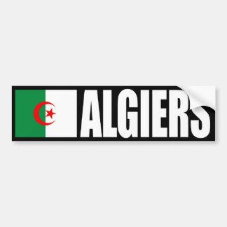 Algiers Algeriet flaggabildekal Bildekal