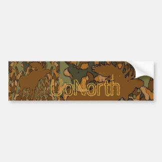 Älgkamouflagegåvor och inbjudningar bildekal