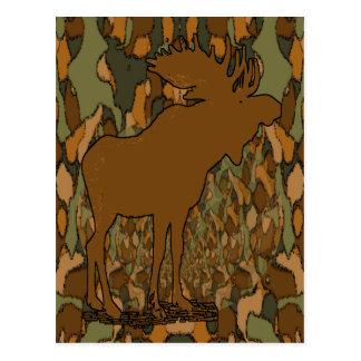 Älgkamouflagegåvor och inbjudningar vykort