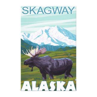 Älgplats - Skagway, Alaska Canvastryck