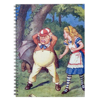 Alice & argen Tweedle anteckningsboken Anteckningsbok Med Spiral