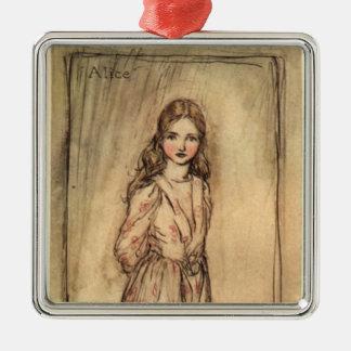 Alice av Arthur Rackham Julgransprydnad Metall