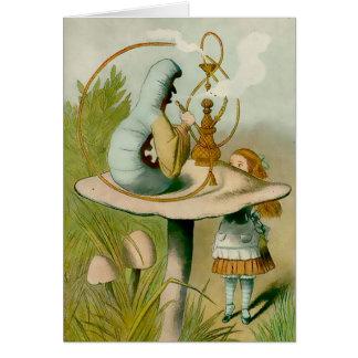 Alice - Caterpiller med Hooka - noterar kortet OBS Kort