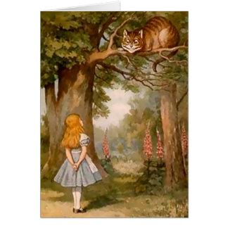 Alice & den Cheshire katten - notera kortet OBS Kort