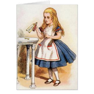 Alice - dricka mig - notera kortet OBS kort