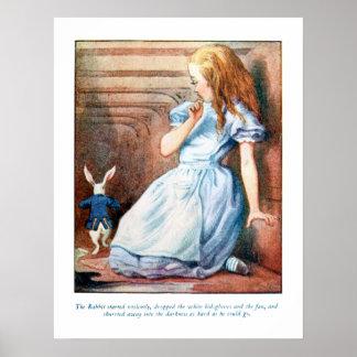 Alice i affisch för tryck för hål för