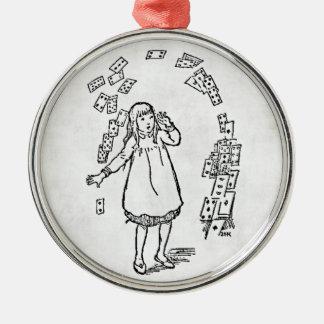 Alice i den Wondeland prydnaden Julgransprydnad Metall