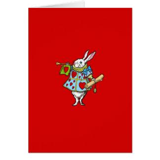 Alice i hjärtor för kanin för underland~-kort röda OBS kort