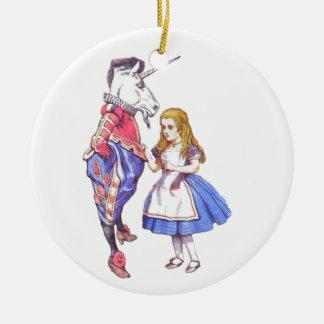 Alice i keramisk prydnad för underland julgransprydnad keramik