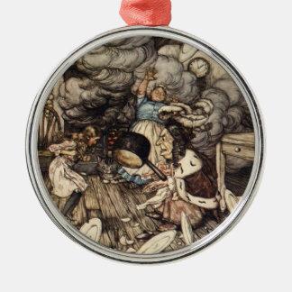 Alice i kök av Arthur Rackham Julgransprydnad Metall