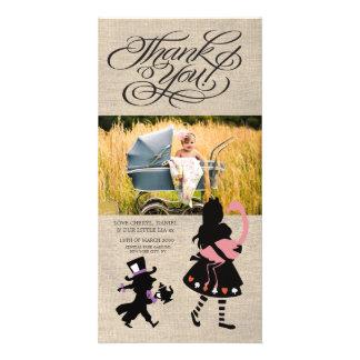 Alice i kort för foto för underlandtackbaby fotokort