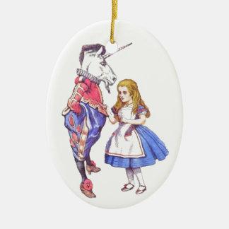 Alice i prydnad för underlandporslinträd julgransprydnad keramik