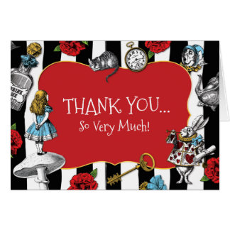 Alice i randigt tack för underland OBS kort