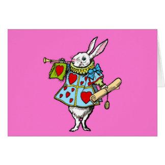 Alice i röda hjärtor för underlandkortkanin OBS kort