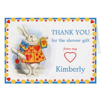 Alice i tack för underlandbaby OBS kort