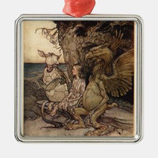Alice i underland av Arthur Rackham Julgransprydnad Metall