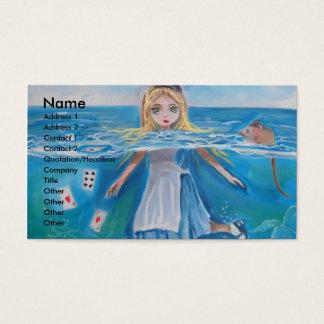 Alice i underland bassängen av tårar vid G Bruce Visitkort
