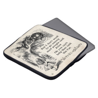 Alice i underland; Cheshire katt med Alice Laptop Datorfodral