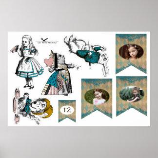 Alice i underland - DIY-dekor - klippta Outs Poster