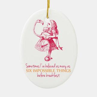 Alice i underland julgransprydnad keramik