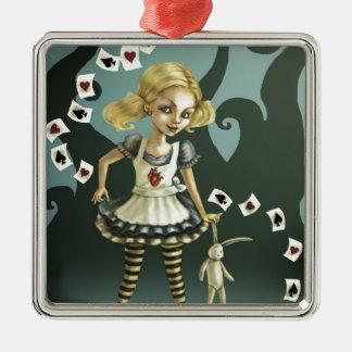 Alice i underland julgransprydnad metall