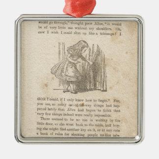 Alice i underland, kapitel ett, besegrar kaninen julgransprydnad metall