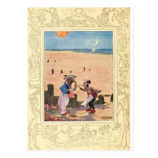 Alice i underland, valross och snickare vykort