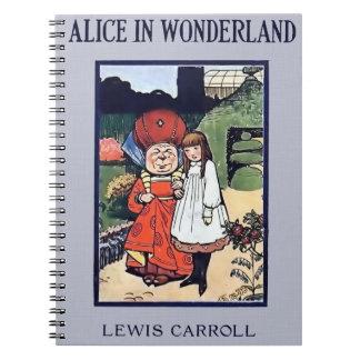 Alice i underlandanteckningsbok anteckningsbok
