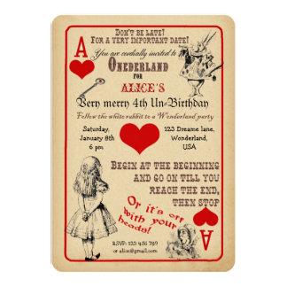 Alice i underlandfödelsedagsfest inbjudan 12,7 x 17,8 cm inbjudningskort